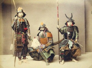 Samurai with weapons - Kusakabe, Kimbei, 1841-1934