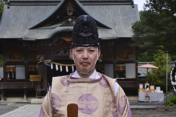 Priest of Chichibu shinto shrine in Saitama.